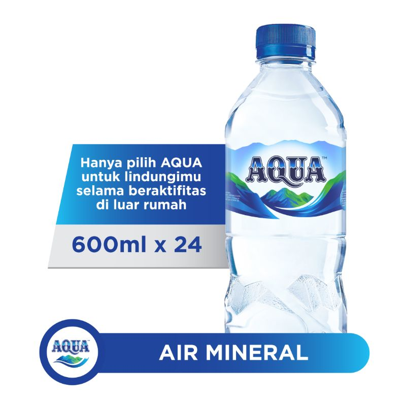 Air Mineral Aqua Botol 600 ml
